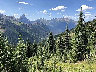 Looking toward Canada, Slate Pass, Buckskin Ridge, Frosty Pass, PCT Loop 8/12-8/19/20