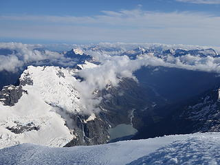 View north with the lake below the Volta Glacier
