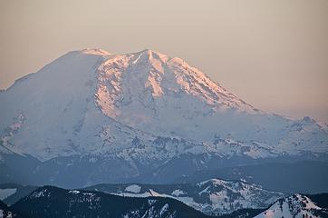 Rainier in fading light