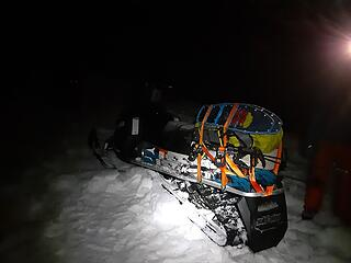Back at the snowmobile