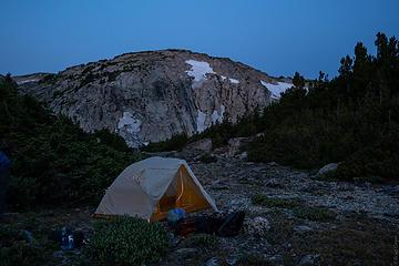 tent shot at little Golden Lake