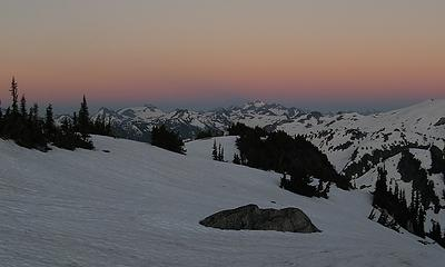 Afterglow above Dome Peak