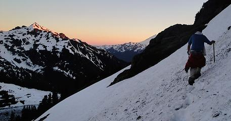 Steep snow and nice colors
