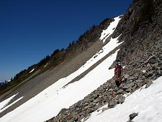 rejoining the good snowy terrain