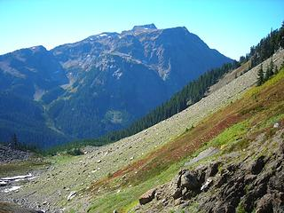 Tomyhoi Peak and the beginning of the traverse