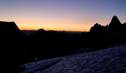 American Border Peak at dusk