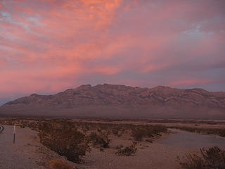 sunset colors over Pahrump Point