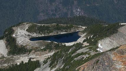 High view down to North Blum Lake from later in the trip