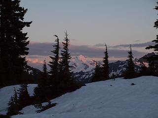 clearing skies on glacier peak