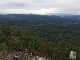 North toward Boistfort Peak