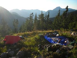 Lazing around in camp