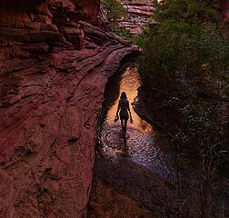 Evening in an Escalante canyon
