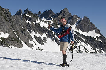 Never give a crazy man an ice axe!