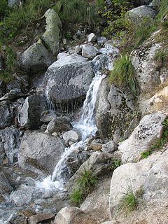 Waterfall on trail