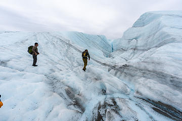 walking the glacier