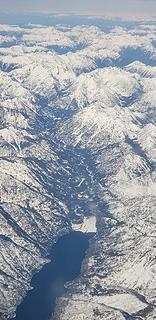 Aerial lake chelan