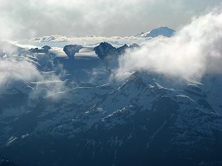 Clouds and shadows along Klawatti traverse