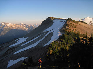 Returning to Hannegan and camp after summiting Granite Mtn