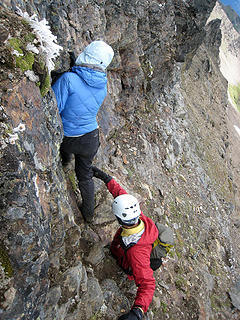 Climbing back down Luahna