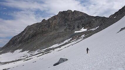 Traversing the Knife Point glacier