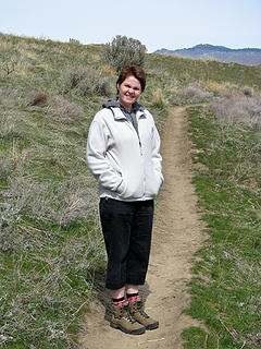 Nettie on the trail.