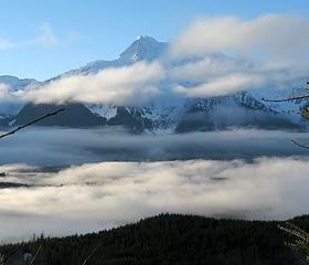 Whitehorse above the clouds