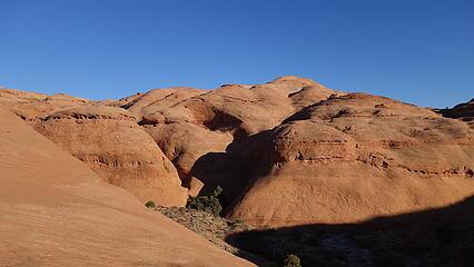 Nearing the canyon bottom again