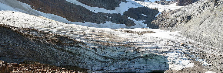 Pano of the glacier