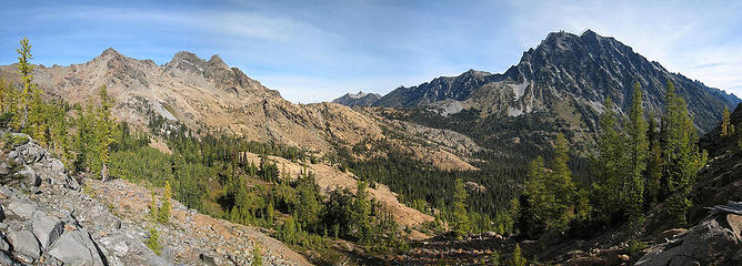 Ingalls and Stuart from Ingalls Pass