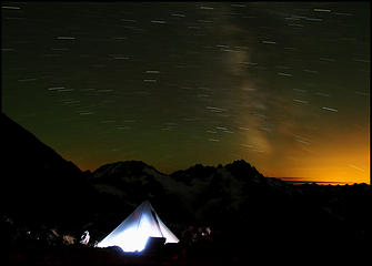 Stars fly over Mount Formidable.