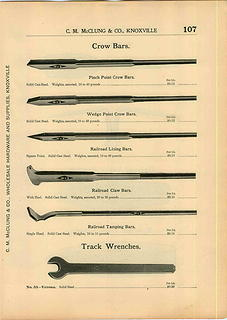 1915 C.M. McClung & Co. catalog Verona wrench crow bar ad pp 107