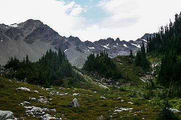 looking toward upper Lillian Basin