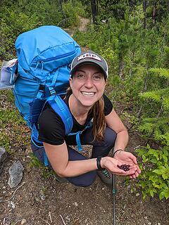Nancy's first alpine blueberries