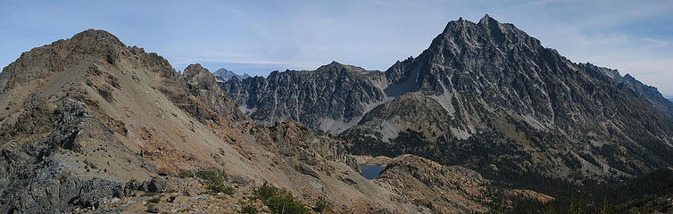 Ingalls, Stuart, and Ingalls Lake from Fortune
