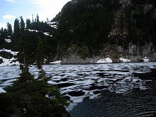 partially frozen cub lake