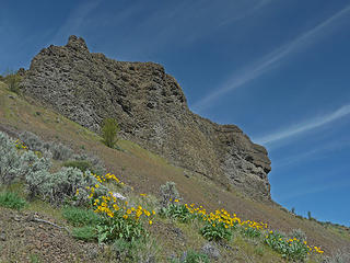 Basalt, Balsamroot and Clouds