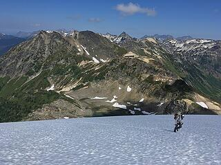 Fletcher ascending the Moth Glacier