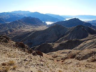 looking back at Canyon Point and Bearing