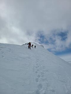 Group gathering before the steeper bits. Photo by Alper