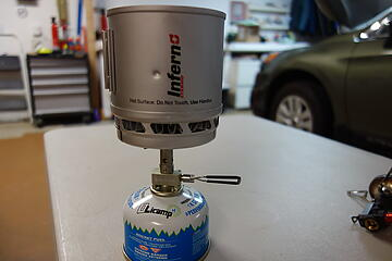 Sterno cup with Snow Peak1 litemax. Cup and burner 5.6 oz.