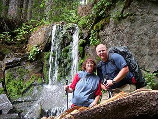Mom and Todd @ Falls