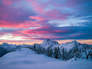 Sunrise from Mount Dickerman