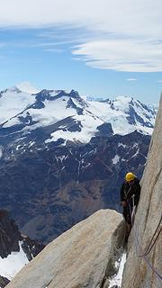 Beautiful granite ridge climbing