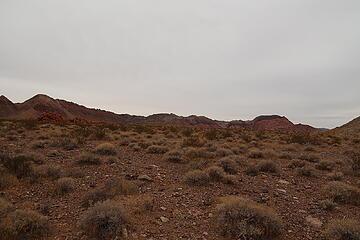 hiking through open desert to Sentinel