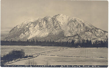 Mt. Si in January, 1909  - essentially no trees on the upper part of the mountain.