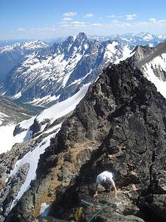 mount logan 7-2-06 ascending summit of logan