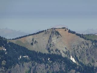 Views of peak north of Brown Peak from Crystal Peak.