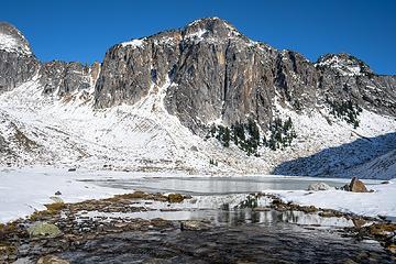 Lonesome peak's granodiorite face