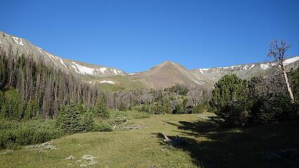 Nearing the Meadow Creek Meadow