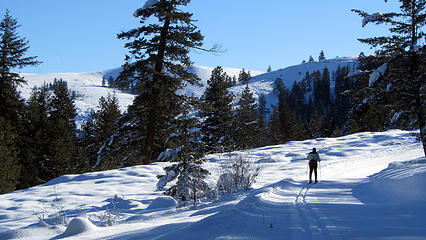 skiing overland trail